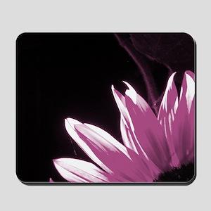 Pink Corner Sunflower Mousepad