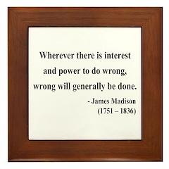 James Madison 11 Framed Tile