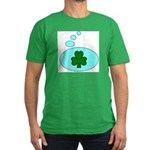 SHAMROCK THOUGHTS Men's Fitted T-Shirt (dark)