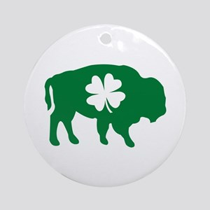 Buffalo Clover Ornament (Round)