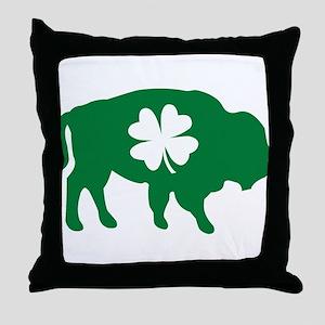 Buffalo Clover Throw Pillow
