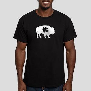 Buffalo Clover Men's Fitted T-Shirt (dark)