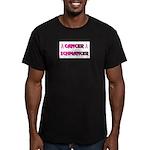 CANCER SCHMANCER Men's Fitted T-Shirt (dark)