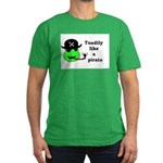 TOADILY LIKE A PIRATE Men's Fitted T-Shirt (dark)