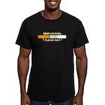 BEER LOADING... Men's Fitted T-Shirt (dark)