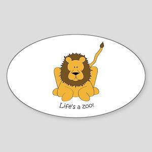 Lion Oval Sticker