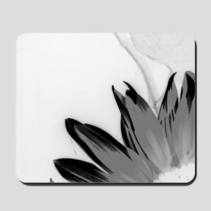 B&W Neg Corner Sunflower Mousepad
