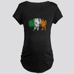 Buffalo Irish Flag Maternity Dark T-Shirt