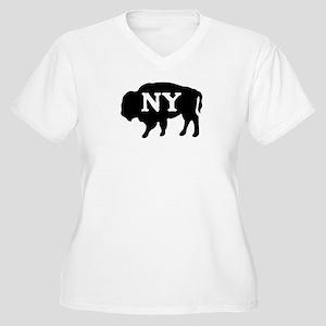Buffalo New York Women's Plus Size V-Neck T-Shirt
