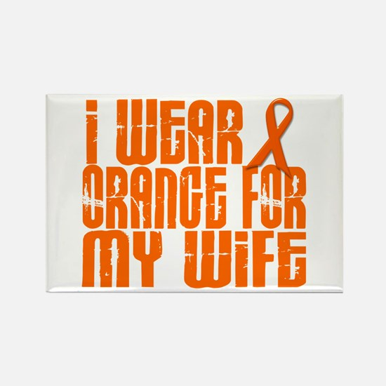 I Wear Orange For My Wife 16 Rectangle Magnet