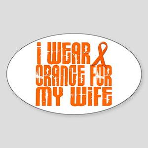 I Wear Orange For My Wife 16 Oval Sticker