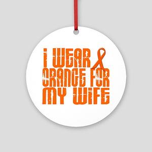 I Wear Orange For My Wife 16 Ornament (Round)