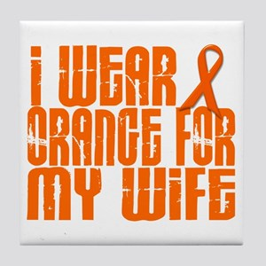 I Wear Orange For My Wife 16 Tile Coaster