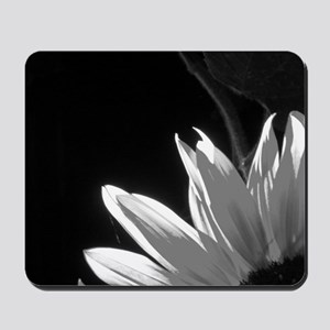 Black & White C Sunflower Mousepad