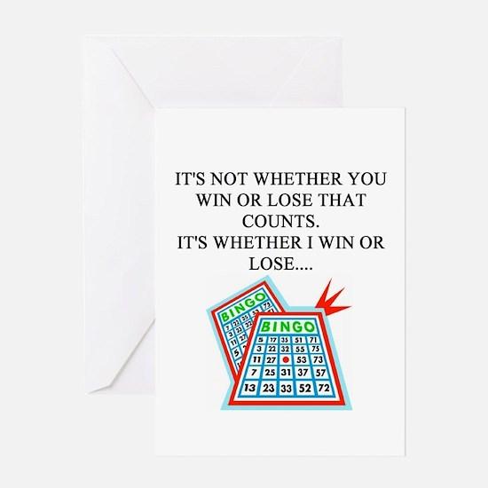 funny bingo joke Greeting Card
