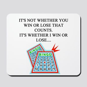 funny bingo joke Mousepad