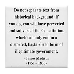 James Madison 14 Tile Coaster