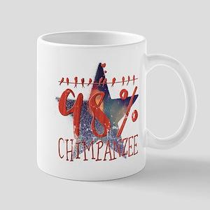 98% chimpanzee Mugs