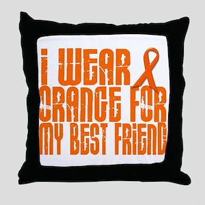 I Wear Orange For My Best Friend 16 Throw Pillow