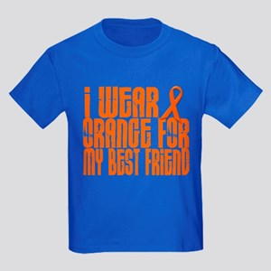 I Wear Orange For My Best Friend 16 Kids Dark T-Sh