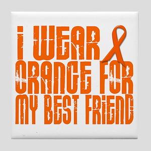 I Wear Orange For My Best Friend 16 Tile Coaster