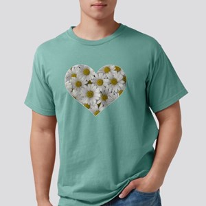 Artistic Heart Filled with Daisy Flowers V T-Shirt