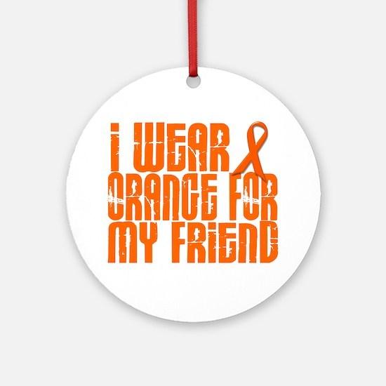 I Wear Orange For My Friend 16 Ornament (Round)
