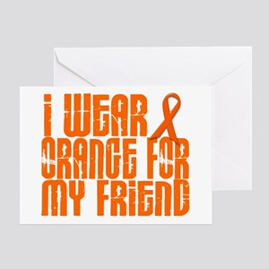 I Wear Orange For My Friend 16 Greeting Card