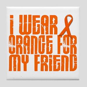 I Wear Orange For My Friend 16 Tile Coaster