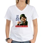 Enjoy the tea? Women's V-Neck T-Shirt