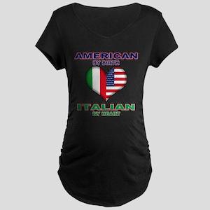 Italian american Pride Maternity Dark T-Shirt