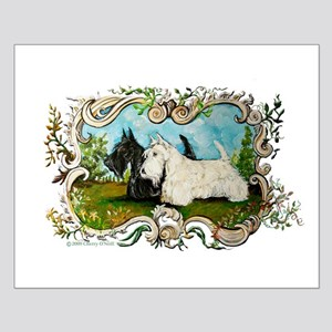 Pastoral Scottish Terriers Small Poster