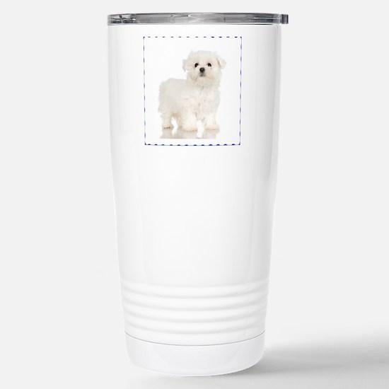 Maltese Puppy Stainless Steel Travel Mug