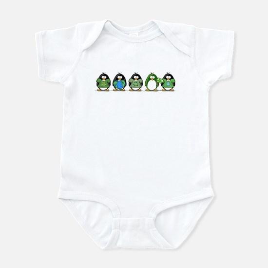 Eco-friendly Penguins Infant Bodysuit