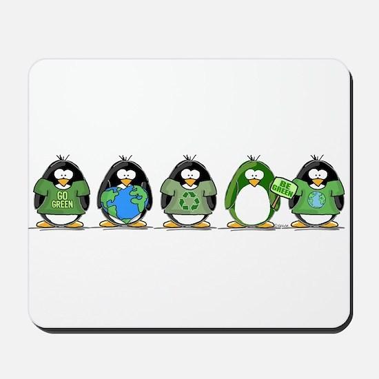 Eco-friendly Penguins Mousepad