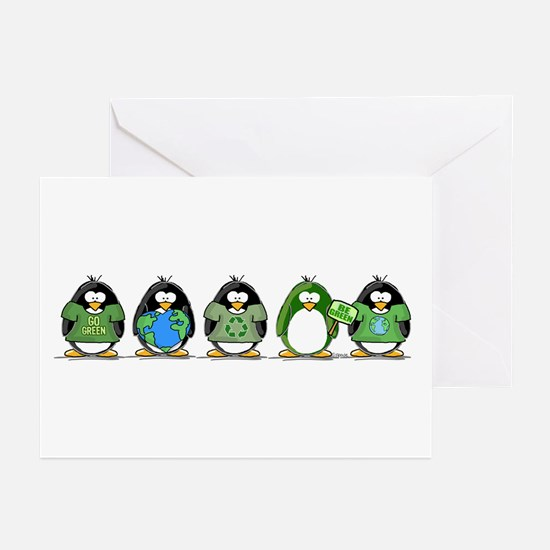 Eco-friendly Penguins Greeting Cards (Pk of 10)