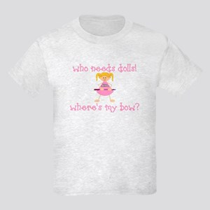 Where's My Bow? (Blonde) Kids Light T-Shirt