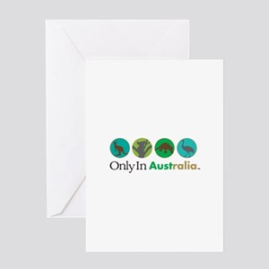 Only In Australia - Animals Greeting Card