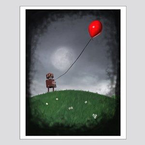 Fly Your Little Red Baloon Small Poster