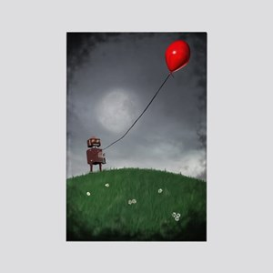 Fly Your Little Red Baloon Rectangle Magnet