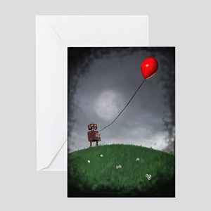 Fly Your Little Red Baloon Greeting Card