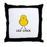 Leo Chick Throw Pillow