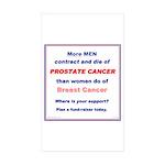 Prostate Cancer in Men Rectangle Sticker 10 pk)