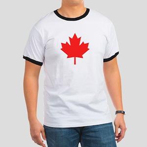Big A** Maple Leaf Ringer T