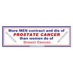 Prostate Cancer in Men Bumper Sticker (10 pk)