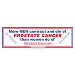 Prostate Cancer in Men Bumper Sticker
