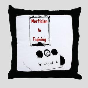Mortician Throw Pillow