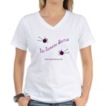 Thinking Knitter Women's V-Neck T-Shirt