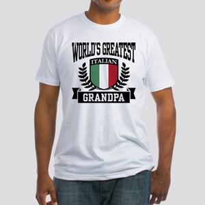 World's Greatest Italian Grandpa Fitted T-Shirt