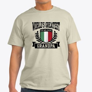 World's Greatest Italian Grandpa Light T-Shirt
